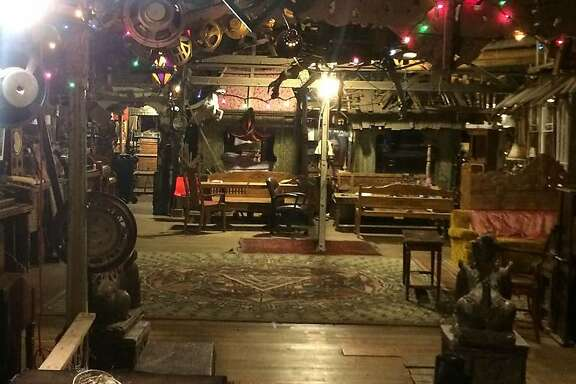 The interior space of the artist collective entitled the Ghost Ship on December 2, 2016,  dec. 2016, a few hours before the warehouse caught fire leading to the deaths of 36 people in Oakland, Calif.  Photo Aaron Marin