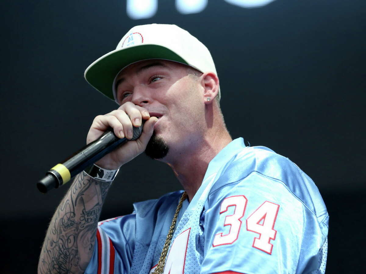 """Rapper Paul Wall performs during the """"Welcome to Houston all-star rap set"""" segment at Day for Night festival Saturday, Dec. 17, 2016, in Houston."""