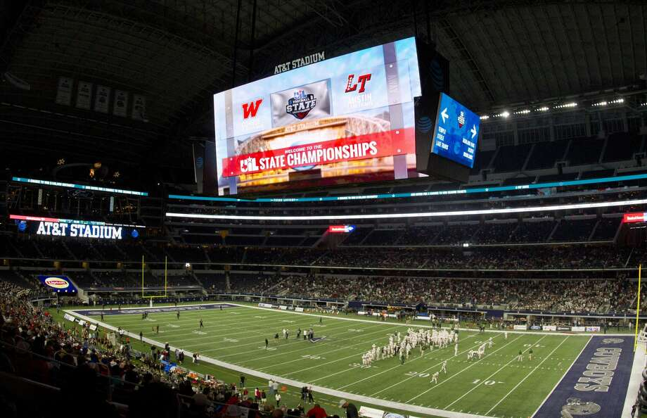 AT&T Stadium is seen before a UIL Class 6A Division I state final between The Woodlands and Lake Travis Saturday, Dec. 17, 2016, in Arlington. Photo: Jason Fochtman/Houston Chronicle