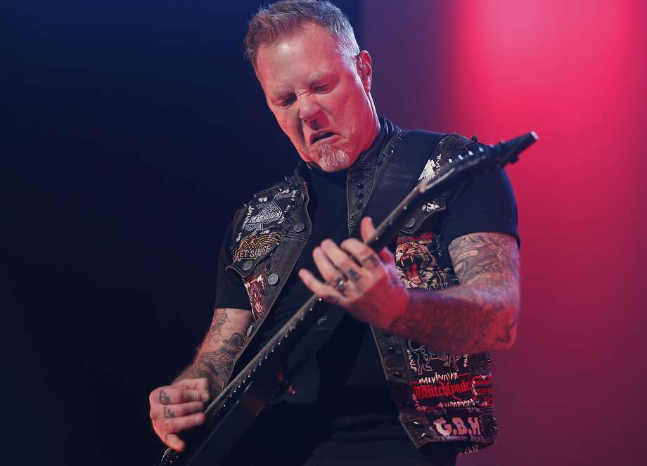 James Hetfield of Metallica is the latest celebrity to leave the Bay Area behind. He and wife Francesca opted to move the family to Vail, where he felt they could leave behind the stiffling 'elitist' attitude of the Bay Area. Photo: Leah Millis, The Chronicle