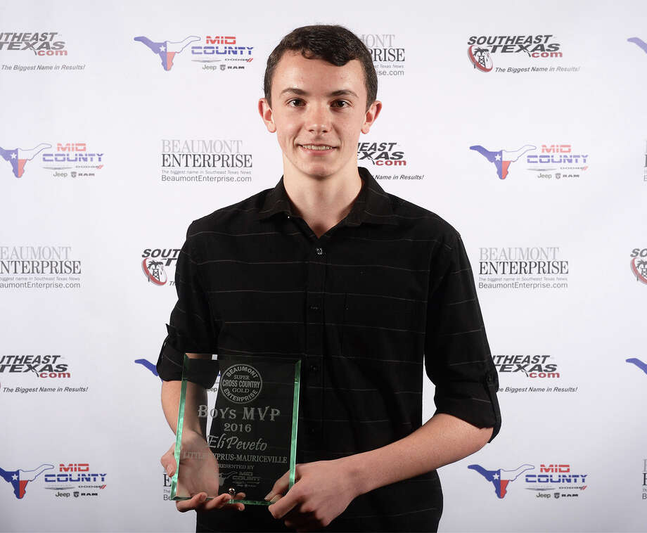Little Cyress-Mauriceville's Eli Peveto at the Beaumont Enterprise Super Gold 2016 Fall Sports Banquet presented by Mid County Chrysler Dodge Jeep Ram. The annual event honors area athletes who excelled in their sport. Photo: Guiseppe Barranco, Photo Editor