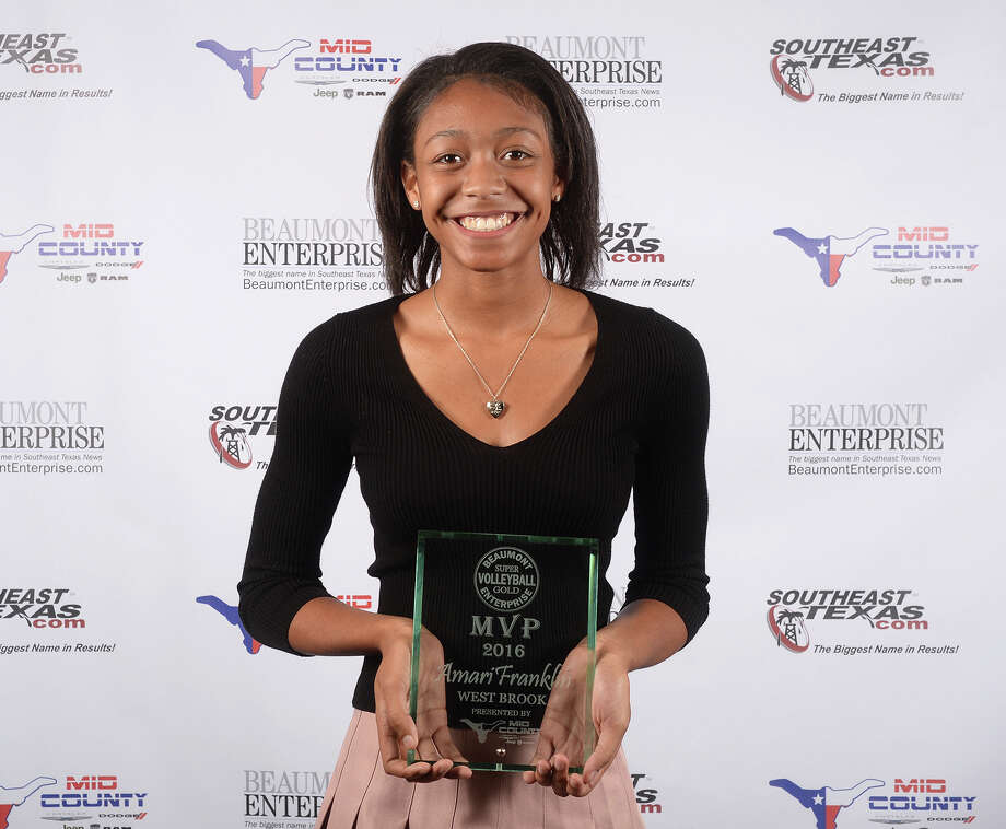 West Brook's Amari Franklin is the Beaumont Enterprise Super Gold 2016 Most Valuable Player in volleyball. The banquet was presented by Mid County Chrysler Dodge Jeep Ram. The annual event honors area athletes who excelled in their sport. Photo: Guiseppe Barranco, Photo Editor