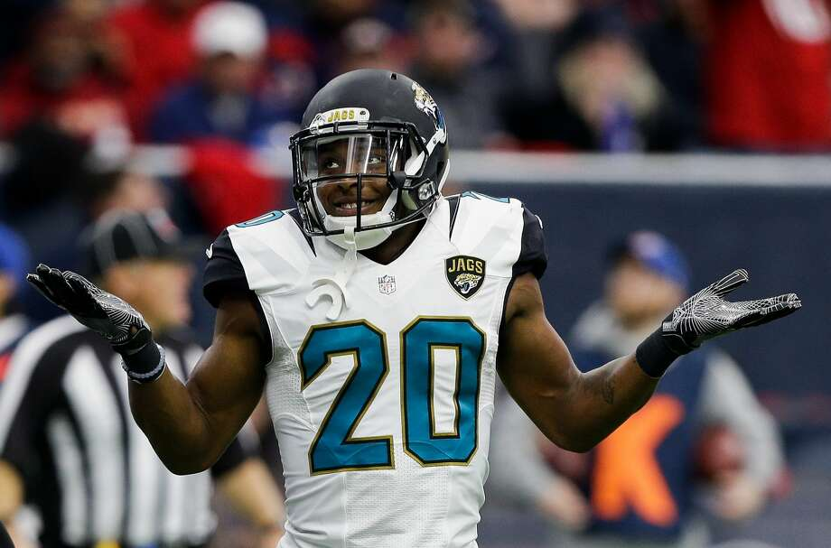 Jalen Ramsey went off after Sunday's game, even wrongly accusing line judge Dale Shaw of being related to Texans Pro Bowl wide receiver DeAndre Hopkins. He called for Shaw to be fired. Photo: Bob Levey/Getty Images