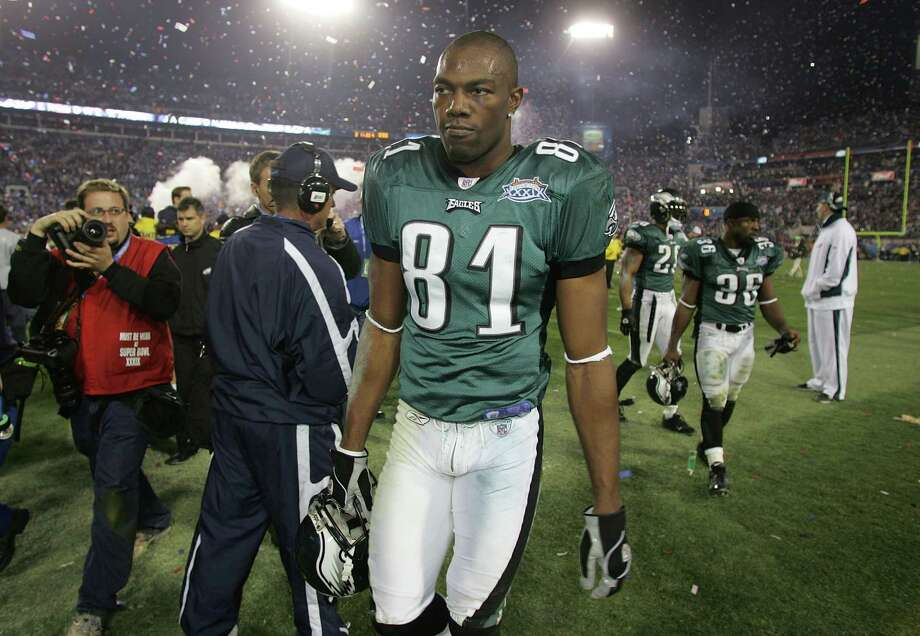 Terrell Owens as a player with the Philadelphia Eagles. Photo: Jeff Gross, Staff / 2005 Getty Images