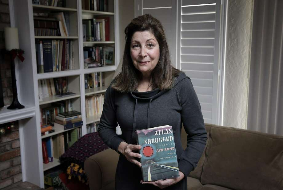"Joanne Hall, now of Pleasanton, borrowed Ayn Rand's ""Atlas Shrugged"" from an S.F. library in 1983. Photo: Carlos Avila Gonzalez, The Chronicle"