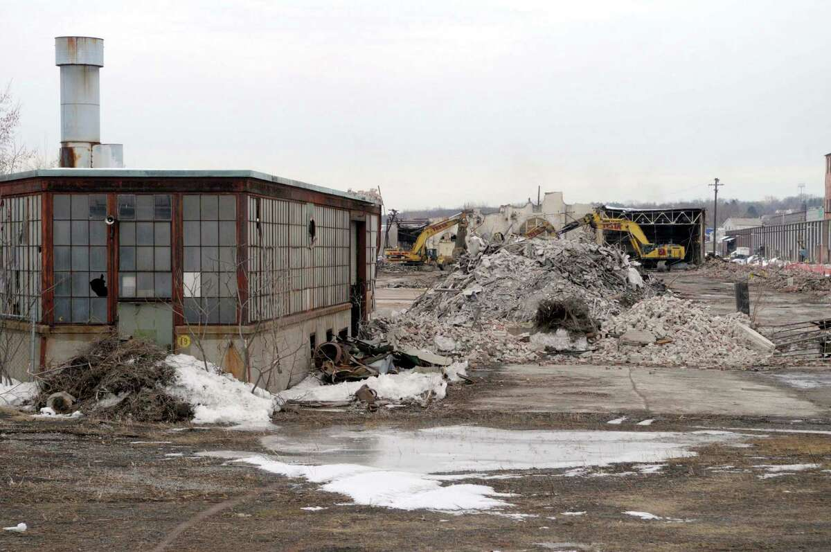 Demolition work continues on the former Alco plant off of Erie Boulevard in Schenectady, NY on Thursday, Feb. 24, 2011. Hundreds of thousands of tons of contaminated soil was found and excavated during the cleanup that was finished in late 2016. (Paul Buckowski / Times Union)