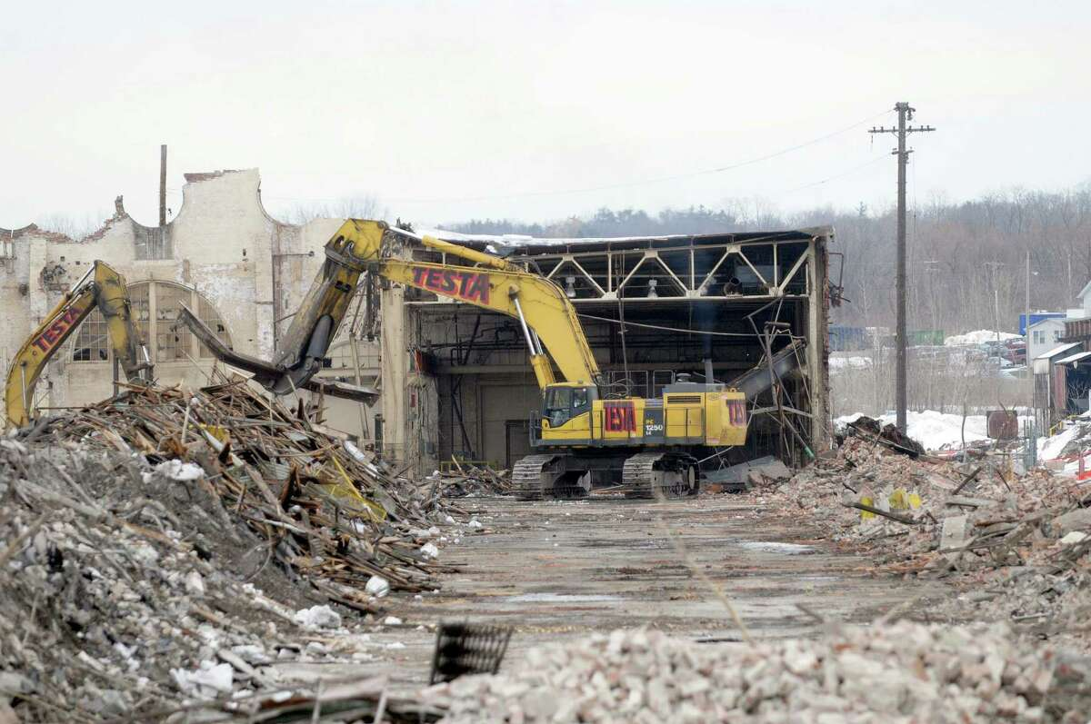 Demolition work continues on the former Alco plant off of Erie Boulevard in Schenectady, NY on Thursday, Feb. 24, 2011. (Paul Buckowski / Times Union)