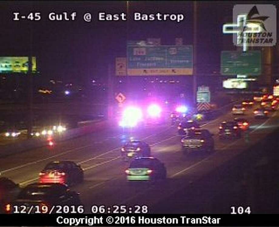 A person died in  a traffic crash about 3:45 a.m. Monday, Dec. 19, 2016, in the 3000 block of Hutchins near downtown Houston. (Houston TranStar)