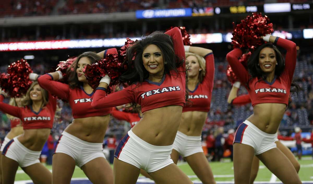 The Houston Texans cheerleaders perform before an NFL football game Sunday, Dec. 18, 2016, in Houston. (AP Photo/David J. Phillip)