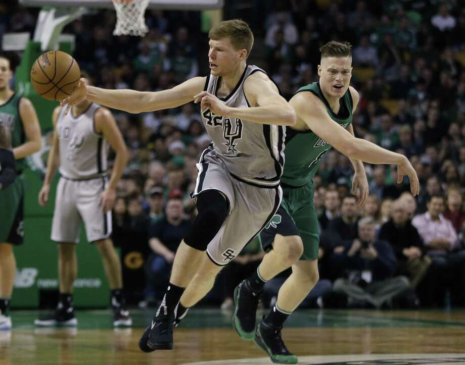 Davis Bertans is making his mark on the court and off for the Spurs. Photo: Elise Amendola /Associated Press / AP
