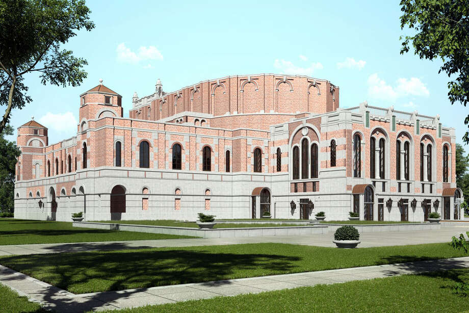A rendering by architect Allan Greengerg of the new  84,000-square-foot facility with a 600-seat, European-style opera theater that will connect to Rice University's Shepherd School of Music. The school has announced that construction will begin in September 2017. Photo: Allan Greenberg Architect LLC