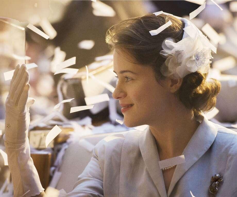 "Claire Foy plays Queen Elizabeth II in Netflix's series, ""The Crown,"" premiering Friday. (Alex Bailey/Netflix) Photo: Netflix, TNS"