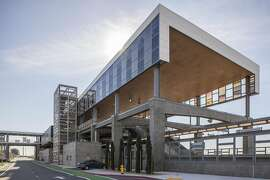 The new Warm Springs/South Fremont BART station in Fremont, California, USA 19 Dec 2016. (Peter DaSilva/Special to The Chronicle)