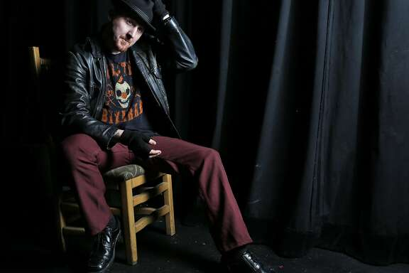 """Jamie DeWolf from the variety show """"Tourettes Without Regrets"""" in the Oakland Metro Operahouse Dec. 16, 2016 in Oakland, Calif."""