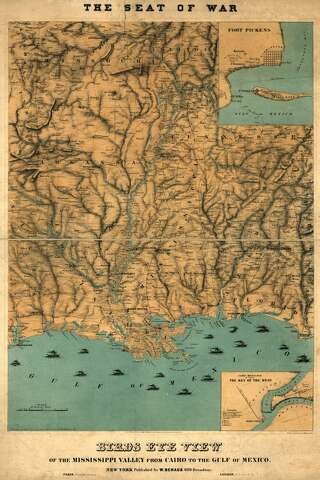 Civil War Era Maps Show Texas Gulf Of Mexico In New Light Houston