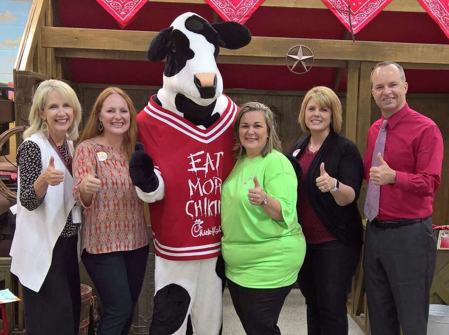 Katy ISD Education Foundation was selected as a $15,000 Chick-fil-A's True Inspiration award recipient. From left are Janet Theis, Amy Lehr, Stephanie Rundell, Wendy Reinwald and Rusty Wylie. Photo: Katy ISD Foundation