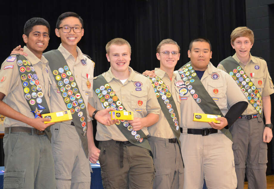 Troop 1631 in Sugar Land Texas recognized six new Eagle Scouts at its Dec.5 Court of Honor ceremony. They are:are Mitchell Nguyen, Zack Dagnall, Tejas Murali, Spencer Reitz, Danny Penczak, and Kody Ngo. Photo: Troop 1631
