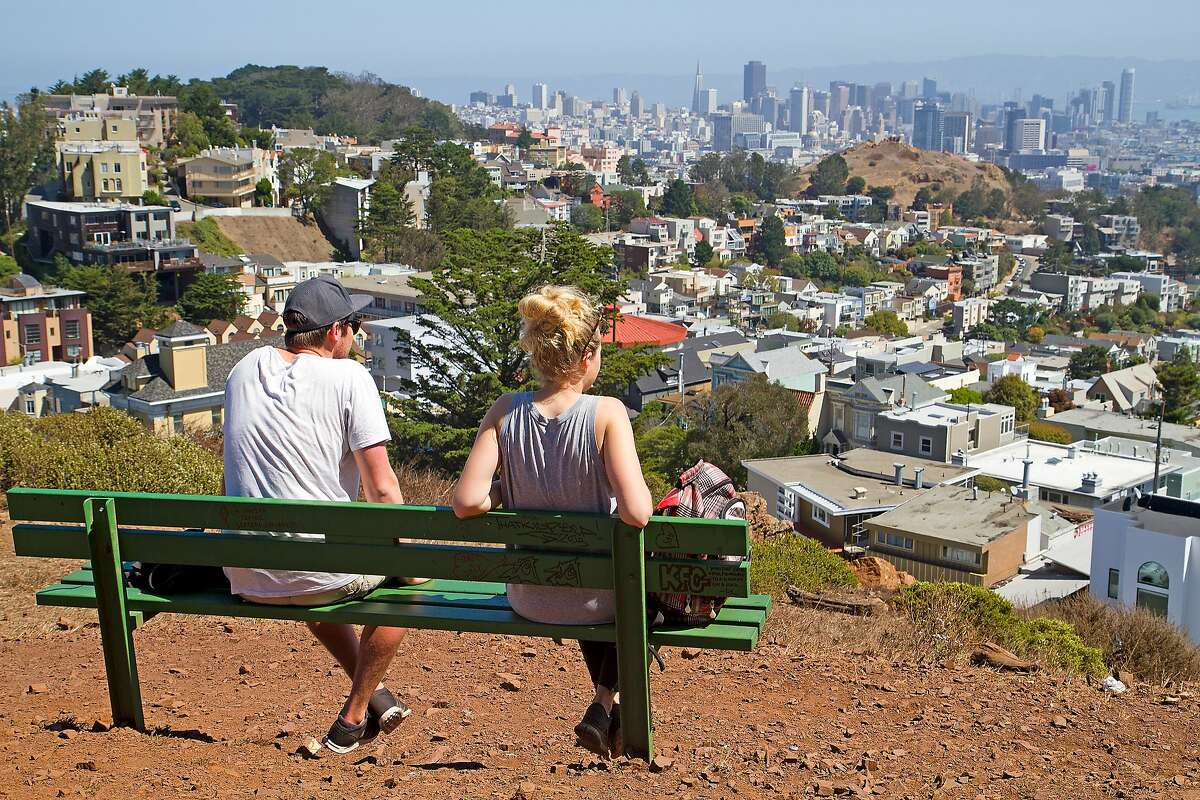 View of San Francisco from Tank Hill Park