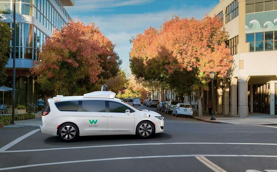 Waymo, a division of Google's parent company Alphabet, has worked with Fiat Chrysler Automobiles to create a self-driving version of the Chrysler Pacifica minivan. Photo: Courtesy Of Waymo