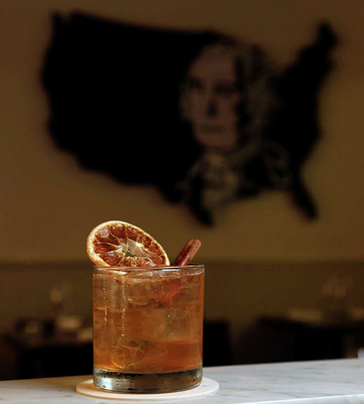 The Golden Girl cocktail, a take on hot butttered rum, was created by Judith Piotrowski at Pax Americana.