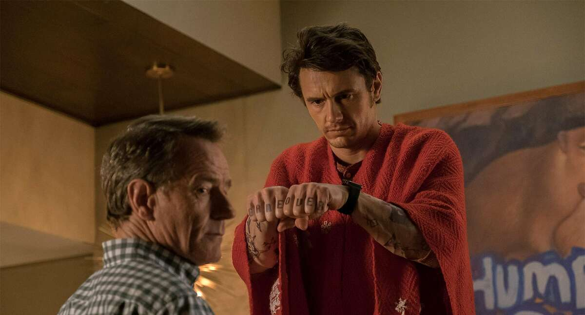 """Bryan Cranston and James Franco in the film """"Why Him?"""" (20th Century Fox)"""