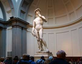 Michelangelo's 'David' stands with the new-found confidence of Renaissance man.