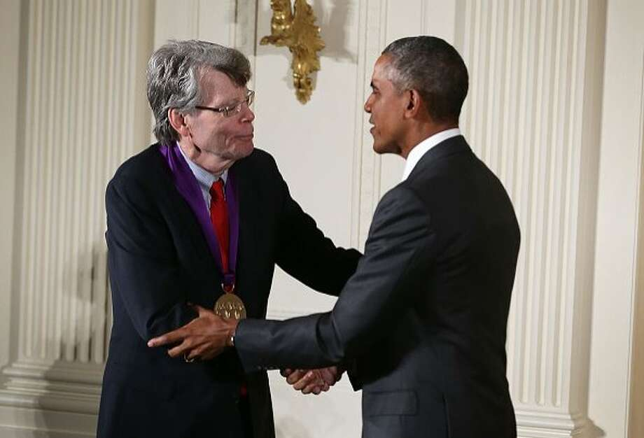 President Obama awards the National Medal of Arts to Stephen King in 2015. Photo: Photo By Alex Wong / Getty Images