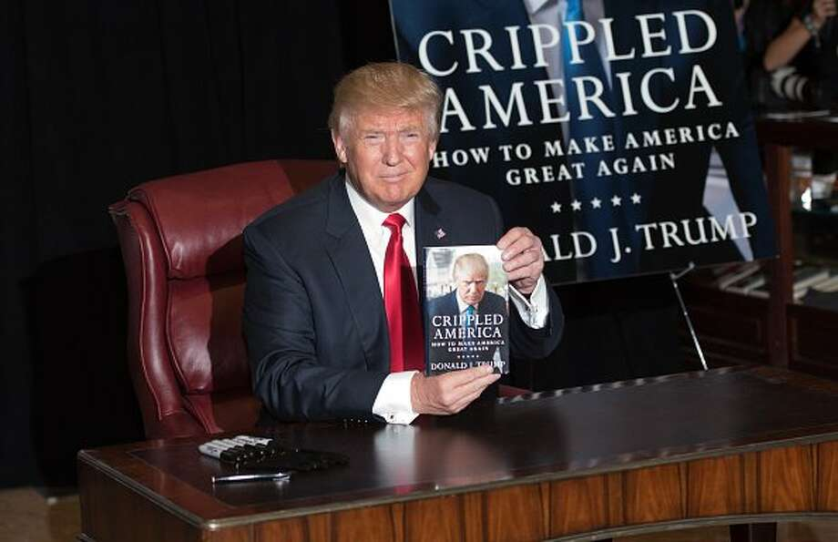 """Donald Trump attends a press conference for the release of his book """"Crippled America"""" at Trump Tower in New York City in 2015. Photo: Noam Galai / WireImage / Getty Images"""