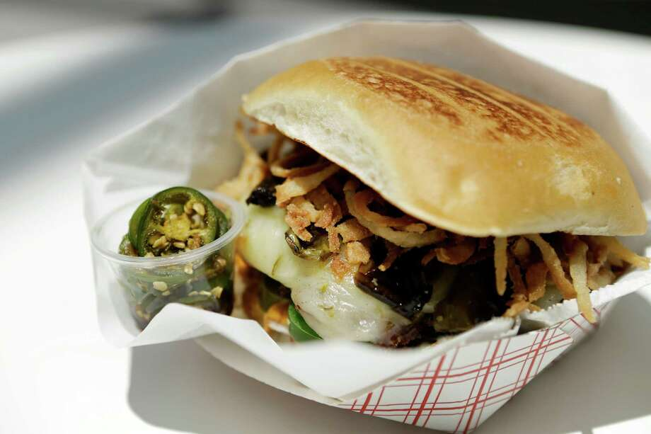 Spicy Burger at Burger Chan Photo: Melissa Phillip, Staff / © 2016 Houston Chronicle
