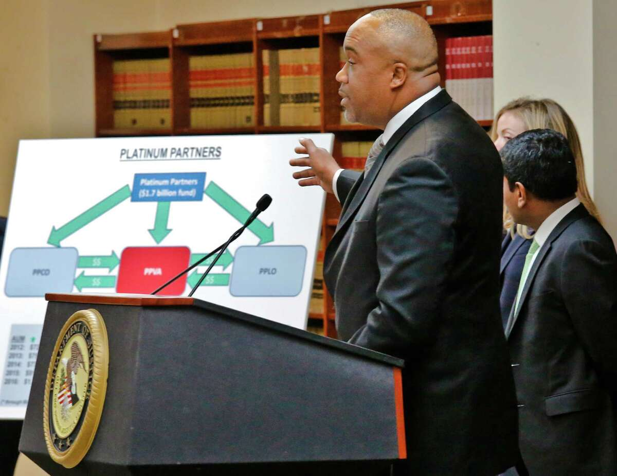 U.S. Attorney Robert Capers details charges against Platinum Partners executives and Black Elk's former CEO.