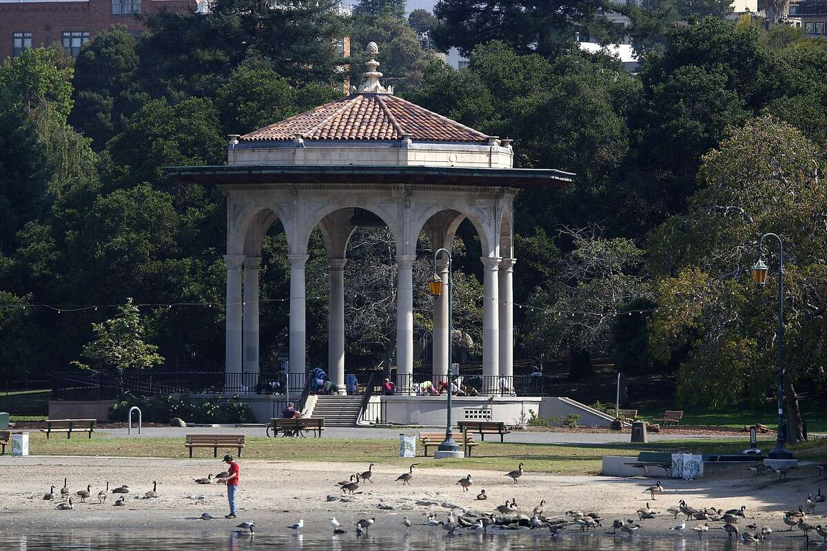 The beach at the gazebo at Lake Merritt in Oakland, Calif., during a warm sunny day on Tuesday, July 2, 2013.