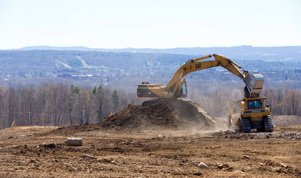 Land is cleared for SUNY Polytechnic Institute?'s new 360,000 square foot state-of-the-art computer chip fab at the Marcy Nanocenter near Utica on April 20, 2016, in Marcy, N.Y. The site was to be the home to ams AG?'s advanced sensor manufacturing. (Office of the Governor)