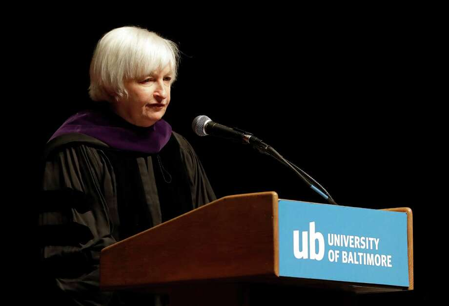 Federal Reserve Board Chair Janet Yellen speaks at the University of Baltimore's fall commencement in Baltimore, Monday, Dec. 19, 2016. (AP Photo/Patrick Semansky) Photo: Patrick Semansky, STF / Copyright 2016 The Associated Press. All rights reserved.