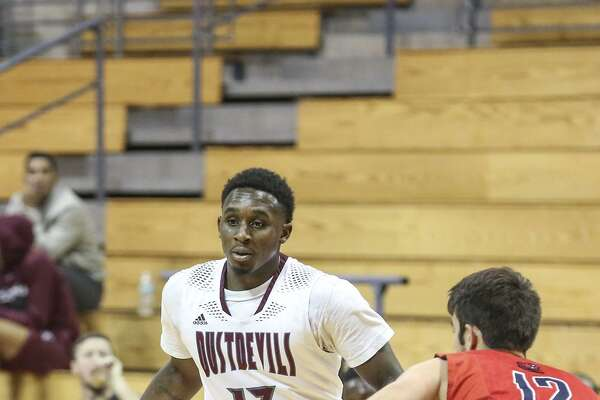 TAMIU guard Denzel Bellot finished with 16 points, six rebounds and four assists leading the Dustdevils to a 68-55 victory over defending Heartland Conference champion Rogers State Monday.