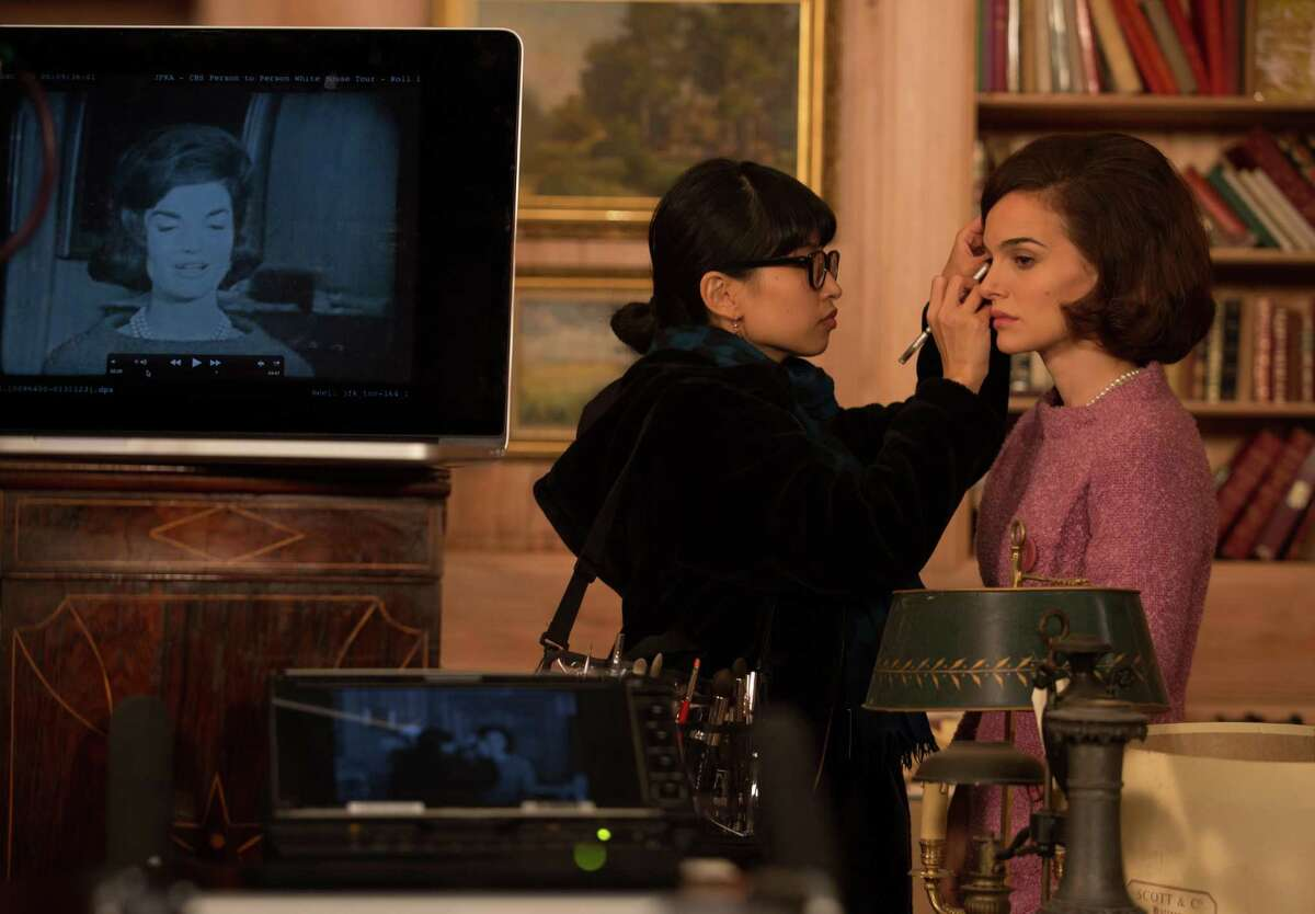 Natalie Portman is shown on the set of