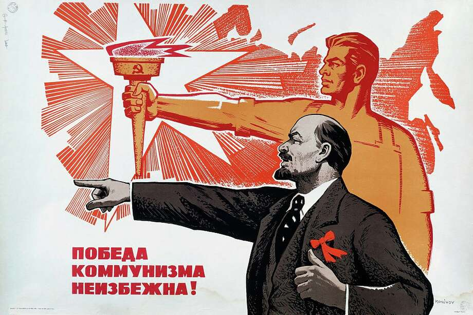 """The victory of communism is inevitable,"" a 1969 Russian propaganda poster. Photo: De Agostini Picture Library, Getty Images"