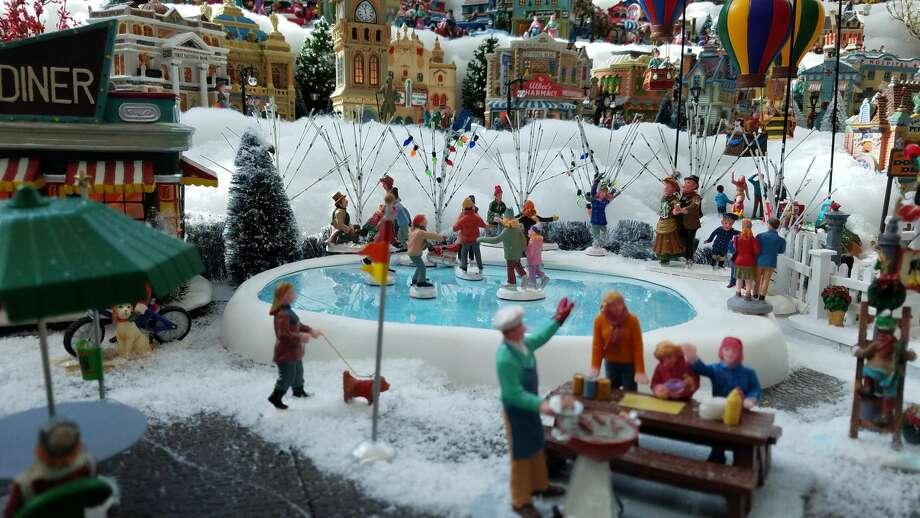 Christmas closeupAnnette Farrell's Christmas Village at Bay Area Regional Medical Center in Webster.See a closeup view of the Christmas village. Photo: Dana Guthrie
