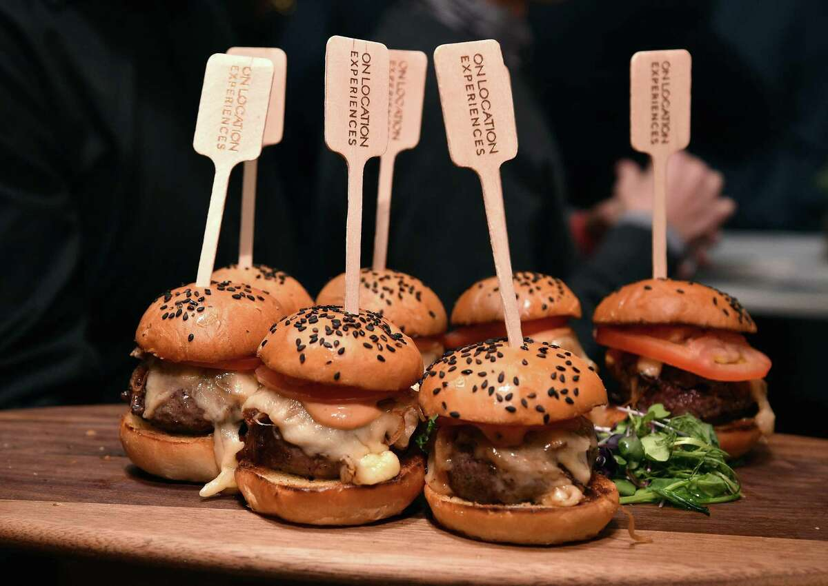 Food on display during On Location Experiences' 51 Days To Super Bowl LI Celebration at STK Rooftop on December 14, 2016 in New York City. On Location Experiences is partnering with Underbelly chef Chris Shepherd and STK to help create upscale dining for the Super Bowl experiences the company is selling.