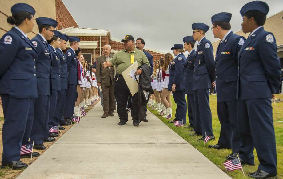 Veterans and guests were honored last year following the Midland ISD Veterans Day program at BowieFine Arts Academy. This year's program is 10 a.m. at Bowie. Photo: Tim Fischer/Midland Reporter-Telegram