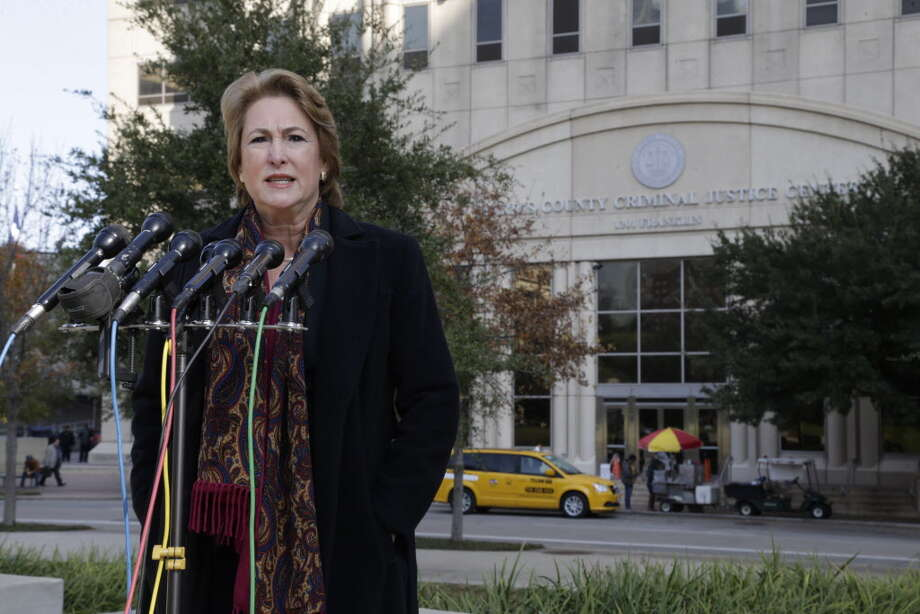 Harris County District Attorney-Elect Kim Ogg speaks during a press conference outside the Harris County Criminal Justice Center Dec. 20,2016 in Houston. Photo: James Nielsen, Houston Chronicle / Copyright 2016 Houston Chronicle