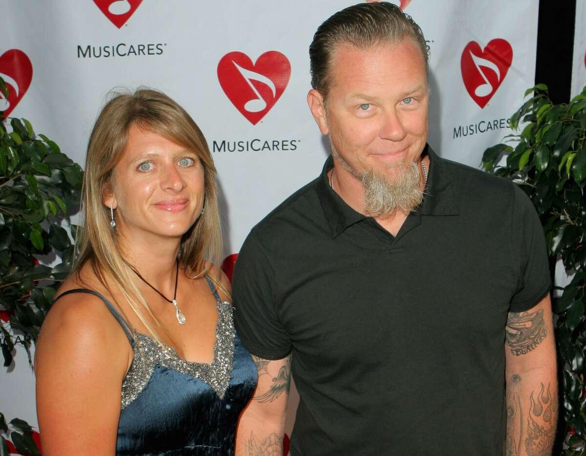 James Hetfield of Metallica and wife Francesca (Photo by Rebecca Sapp/WireImage)