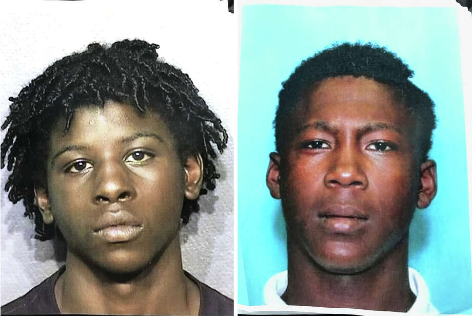 """The Montgomery County Sheriff's Office is seeking information regarding the location of 17-year-old male Michael """"Mike"""" Gene Jones (left) and 19-year-old male Israel Treqwaun Hunter (right) who are wanted in connection with an aggravated robbery involving the assault of an off-duty Montgomery County deputy that took place in Porter Dec. 10. Photo: Courtesy Of The Montgomery County Sheriff's Office"""