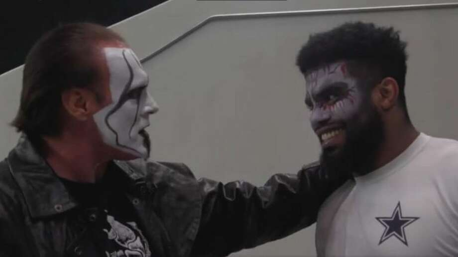"""This week the Dallas Cowboys hired retired pro wrestler Sting as their intimidation coach. Well not really. A hilarious video in the style of """"The Office"""" was released Tuesday of the wrestler settling into his new job with Jerry Jones' football team.Click through to see the dankest memes from the past week in the NFL... Photo: Dallas Cowboys On Twitter"""