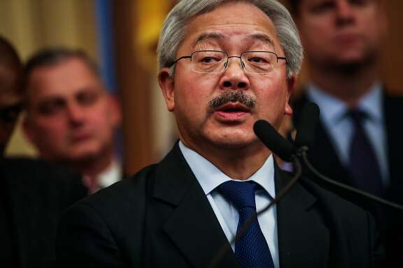 Mayor Ed Lee announced the new San Francisco police chief as William Scott, a veteran Los Angeles deputy chief, during a press conference, at City Hall, in San Francisco, Calif., on Tuesday, Dec. 20, 2016.