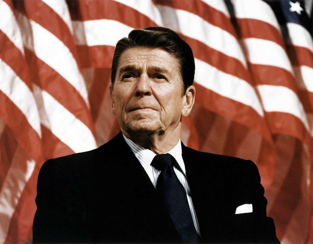 Visit Ronald Reagan, who was then the governor of California, stopped by the rehearsal.
