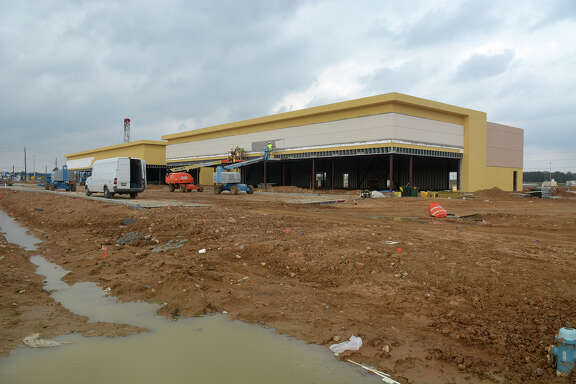 Construction has begun on the Grand Parkway Marketplace I, located at Spring Stuebner and the Grand Parkway with a target opening in spring 2017. (Photo by Jerry Baker/Freelance)
