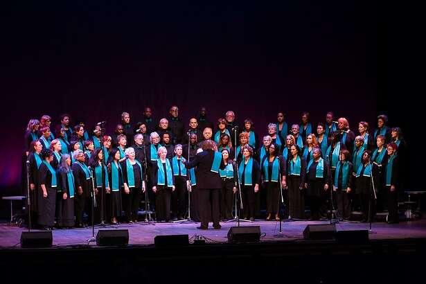 The Oakland Interfaith Gospel Choir in performance.