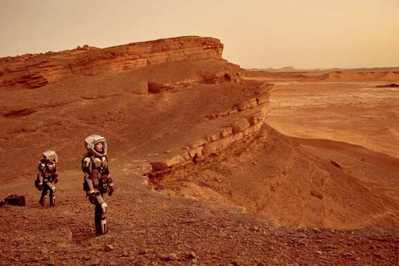 "In the National Geographic Channel series ""Mars,"" astronauts embark on a mission to the Red Planet in the year 2033."