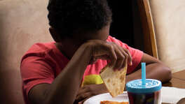 Jaivyn Mauldin, 10, experiences a moment of discomfort toward his sister after a disagreement over the choice of breakfast, Wednesday, July 20, 2016, in Austin. Mauldin is a student at Ronald Reagan Elementary School where he struggles to control his behavior and learn in regular classes. His parents have been trying for the past three years to get him special education. ( Marie D. De Jesus / Houston Chronicle )