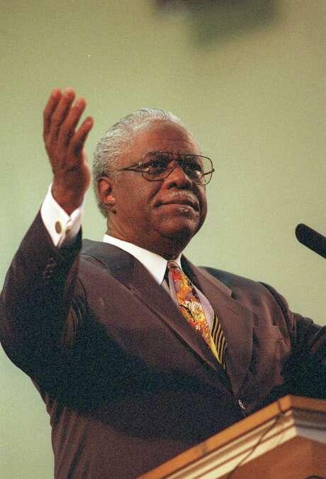 "Longtime Baptist minister Charles L. Jackson drew praise for having ""an independent mind."" Photo: Carlos Antonio Rios, Staff / Houston Chronicle"